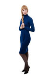 Women in blue dress Stock Photo