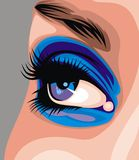 Women blue nic eye Royalty Free Stock Image