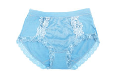 Women blue panties Royalty Free Stock Images