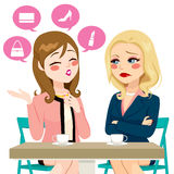Women Boasting Gossiping Stock Image