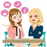 Women Boasting Gossiping Stock Image