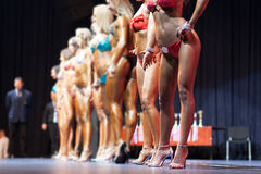 Women body fitness competition Royalty Free Stock Images