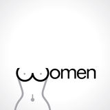 Women body typography on white background Stock Images