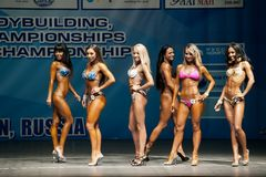 Women Bodyfitness championship in Tyumen. Russia Stock Photo