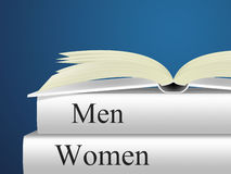 Women Books Means Woman Fiction And Lady Royalty Free Stock Photos