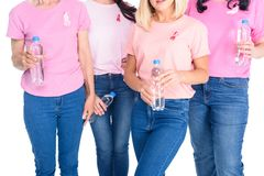 Women with bottles of water royalty free stock photo