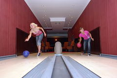 Women Bowling Stock Image