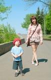 Women with boy Stock Photos