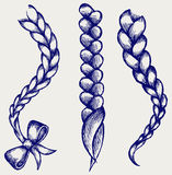 Women braid. Doodle style. Vector vector illustration