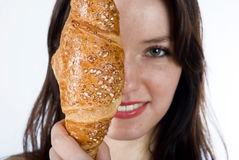Women and bread Royalty Free Stock Image