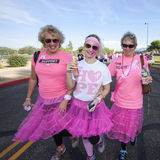 Women in Breast cancer Awareness Walk Royalty Free Stock Image