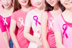 Women with breast cancer prevention Royalty Free Stock Photos