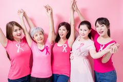 Women with breast cancer prevention Stock Image