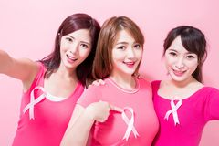 Women with breast cancer prevention royalty free stock images