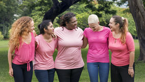 Women Breast Cancer Support Charity Concept. Women Breast Cancer Support Charity Royalty Free Stock Photography