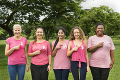 Women Breast Cancer Support Charity Concept Stock Images