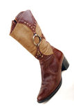 Women brown boot Royalty Free Stock Images