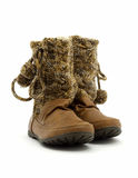 Women brown boots Royalty Free Stock Photography