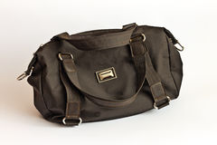 Brown leather bag Stock Images