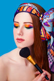 Women with brush royalty free stock images