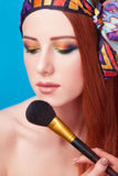 Women with brush Royalty Free Stock Photo