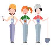 Women builders Stock Image