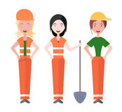 Women builders working Royalty Free Stock Image