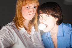 Women with bulb Stock Photography