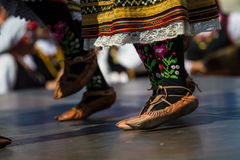 Women from Bulgaria at folk dance festival Royalty Free Stock Image