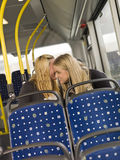 Women on the bus Royalty Free Stock Image