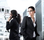 Women in Business. Young businesswomen in the downtown Royalty Free Stock Images