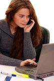 Women in Business. Young woman working at office Royalty Free Stock Photos