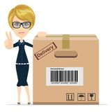 Women in Business - delivery service Stock Images