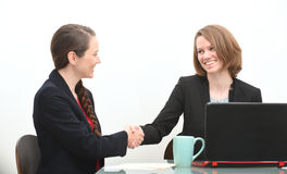 Women in business meeting or job interview Stock Image