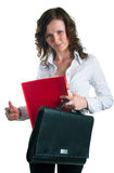 Women in a business suit with a folder Stock Photography