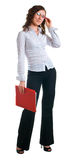Women in a business suit with a folder in hands Stock Images