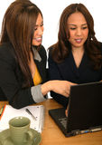 Women Business Team Discussing With Laptop Stock Photography