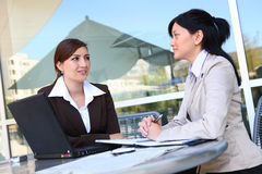 Women Business Team at Office Building Royalty Free Stock Image