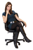 Women in businesschair Royalty Free Stock Images