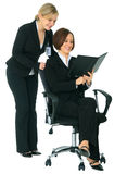 Women Businessteam Looking At Agenda Royalty Free Stock Images