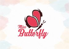Women butterfly logo vector for love vector illustration