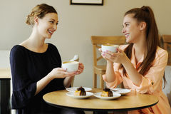Women in cafe Royalty Free Stock Images