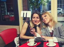 Women in cafe Royalty Free Stock Photo