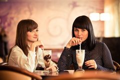 Women in caffee Royalty Free Stock Image