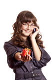 Women calling by phone Stock Image