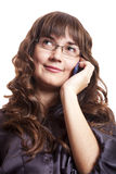 Women calling by phone Stock Photography