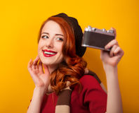 Women with camera Stock Photo