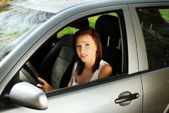 Women the car Royalty Free Stock Images