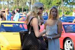 Women at car event Stock Photography