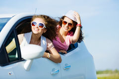 Women in car Royalty Free Stock Images